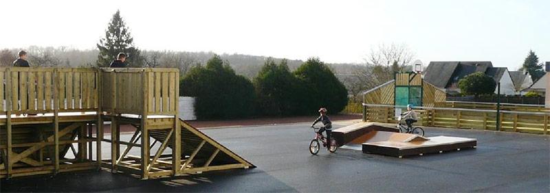 Skatepark de la ville d'Artannes sur Indre